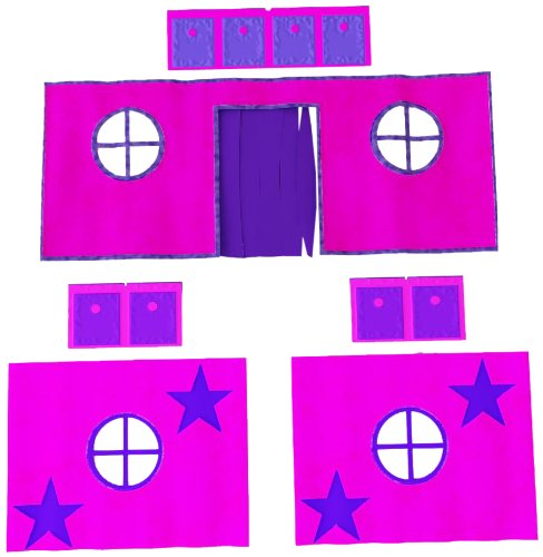 DHP Curtain Set for Fantasy Loft Bed - Pink