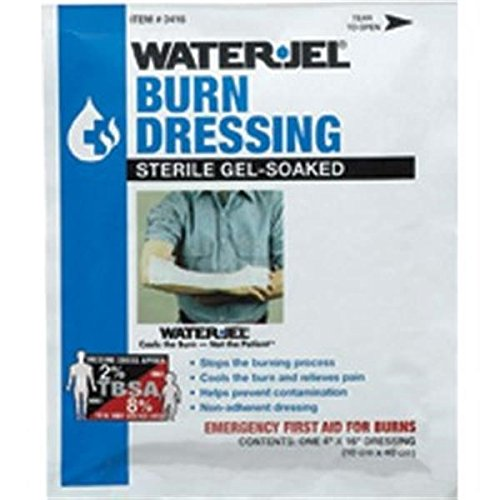 Water-Jel Burn Dressings (4'' x 16'') (20 Pack) by Water Jel Technologies