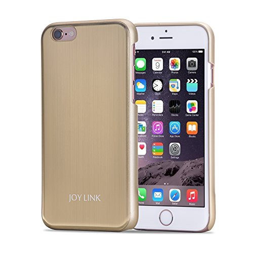 Am Series 2 Microphone - Gold Plated iPhone 6 6S Case with Shock Resistant Edge Cover [Perfect for Rose Gold Iphone] [Anti-scratch Coating] [Slim Fit Thin Armor] [4.7 In] [Champagne Gold]