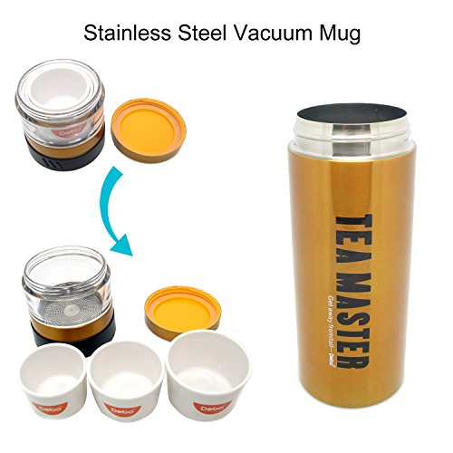 -[ Debo Vacuum Insulated Travel Water/Coffee Mug,Double Walled Stainless Steel Drinking Flask With