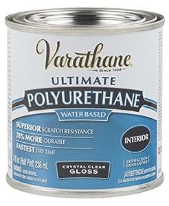 Rust-Oleum Varathane 200061H 1/2-Pint Interior Crystal Clear Water-Based Polyurethane, Gloss Finish