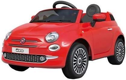 Motoor Kids Coche el/éctrico para ni/ños Fiat 500 con Mando Radio Control y bater/ía 6V Rosa Rojo, Blanco y Rosa - Juguetoon