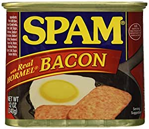 Hungry Jack SPAM with Real Hormel Bacon Canned Meat, 12 oz