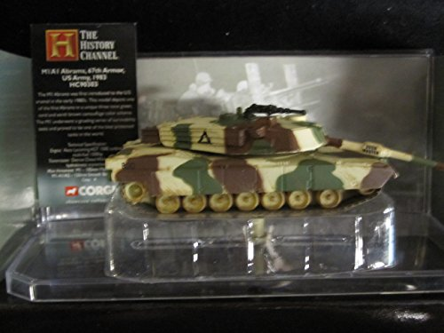M1 Abrams 67th Armor US Army Bush Master Markings History Channel Edition Corgi Fighting Machines Series with Display Stand ()