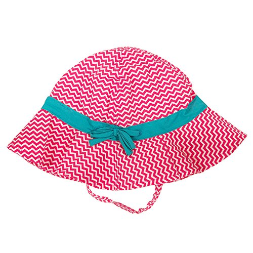 circo-hat-for-baby-girls-toddlers-pink-chevron-with-teal-bow-size-6-12-months