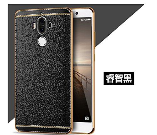 Funda Huawei Mate 9,Manyip Alta Calidad Ultra Slim Anti-Rasguño y Resistente Huellas Dactilares Totalmente Protectora Caso de Cuero Cover Case Adecuado para el Huawei Mate 9 A