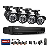 Sannce Home 8CH 960H DVR with 4x 800TVL Outdoor Metal CCTV IR Security Camera System,HDMI/VGA/BNC Multi Output, P2P & QR Code Scan Remote Access (NO HDD pre-installed)
