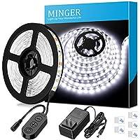 Dimmable LED Strip Lights, MINGER White Strip Light LED...