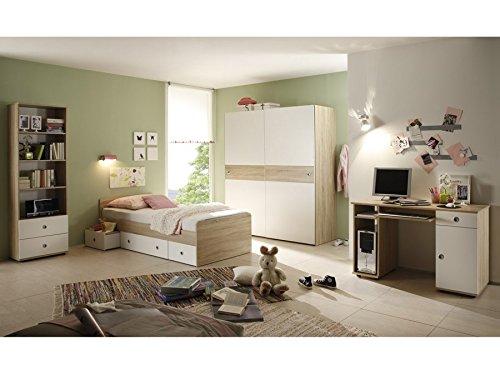 Jugendzimmer Set Wiki Schreibtisch Bett Regal Schrank Farbe Sonoma
