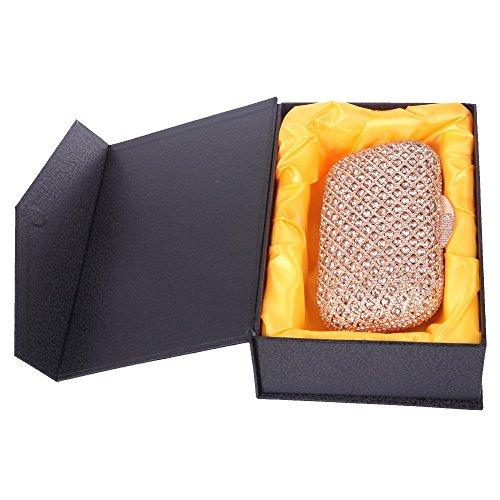 Damen Clutch Abendtasche Handtasche Geldbörse Luxus Glitzer Gitter Tasche mit wechselbare Trageketten von Santimon(6 Kolorit) Champagner lN6Hvdwl