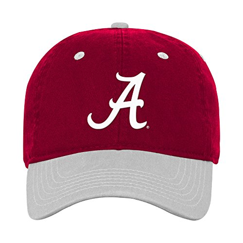 NCAA Alabama Crimson Tide Boys 4-7 Two Tone Slouch Adjustable Hat, 1-Size, Victory Red
