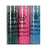 3 Tubes Luminous Sampler (Db2054-dusk)(db2039-ocean)(db2036-cotton Candy) Delica Myiuki 11/0 Seed Bead 7 Gram Tubes Approx 1400 Beads Each Color