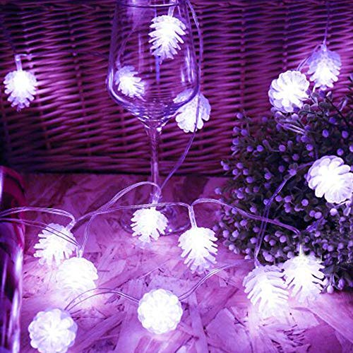 Fenebort Christmas Decoration Solar Pine Cone Light Christmas Lights Decoration Outdoor Waterproof Lamp 20 LED,Enjoy a Warm Atmosphere