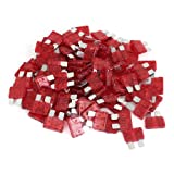 100 Pcs 10Amp 10A Red Body Two Prong Blade Plug-in ATC Fuses