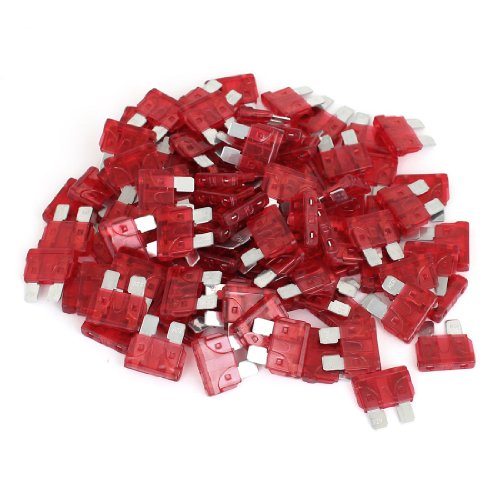 uxcell 100 Pcs 10A ATC Red Body Blade Style Fuses for Automotive ()