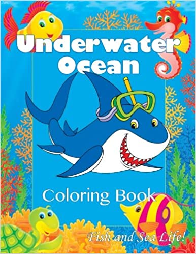 underwater ocean coloring book fish and sea life super fun coloring books for kids lilt kids coloring books 9781500123604 amazoncom books - Ocean Coloring Book