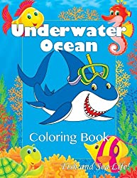 Underwater Ocean Coloring Book: Fish and Sea Life! (Super Fun Coloring Books For Kids)