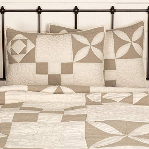 Piper Classics Heritage Patch Standard Size Pillow Sham, 21