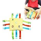 Luerme BucklePuzzle ToyToddlerEarlyLearningBasicLifeSkillsChildren'sPlushToy TravelPreschool Activity Toys Early Educational Toy