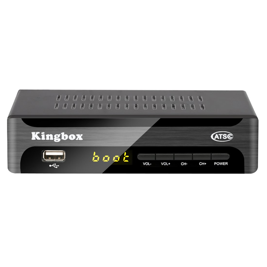 Kingbox Digital TV Converter Box for Analog TV, ATSC Tuner with Record and Pause Live TV, USB Multimedia Playback, HDTV Set Top Box for HD 1080P (2018 Version)