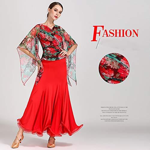 Donna Abiti Danza amp;b Concorrenza Red Flessibile Elegante Festa Xhtw Palcoscenico Gonna Costumi Vestito 5qXTf6qw