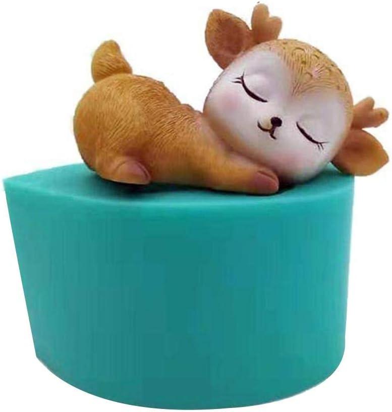 Sika Deer Silikon Kerzenform S/ü/ße Haustier Kuchen Schokolade F/ür DIY Basteln Kuchen Dekoration S/ü/ße Kuchen Schokolade 3D Form