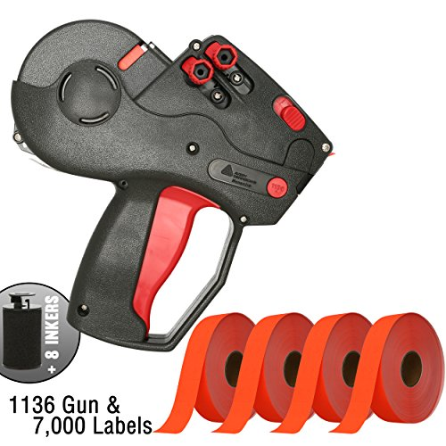 Monarch 1136 Price Gun With Labels Starter Kit: Includes Price Gun, 7,000 Fluorescent Red Pricing Labels and Inker by Perco Label