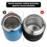 Insulated Lunch Container DaCool Hot Food Jar 16 oz Stainless Steel Vacuum Bento Lunch Box for Kids Adult with Spoon Leak Proof Hot Cold Food for School Office Picnic Travel Outdoors - Black