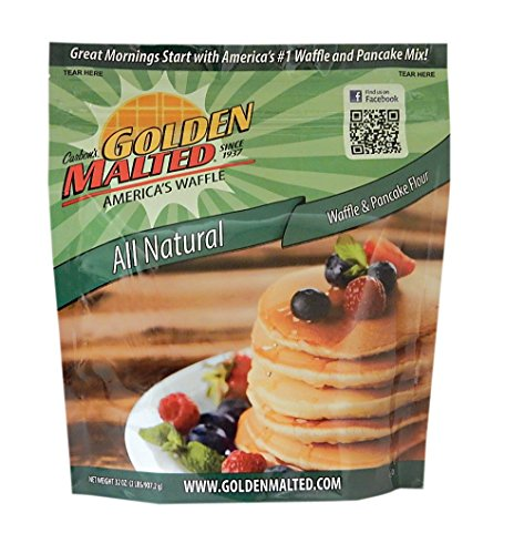 Carbon's Golden Malted Natural Waffle and Pancake Flour, 32 Ounce (Pack of 3) (Waffle Mix Golden Malted compare prices)