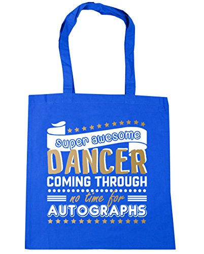 Time Super Gym 10 Dancing Shopping HippoWarehouse Bag For Blue Beach Tote Autographs 42cm Through Awesome Dancer No Coming x38cm litres Cornflower fq7wY7Ad