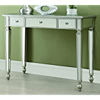 Coaster Home Furnishings Contemporary Console Table, Antique Silver