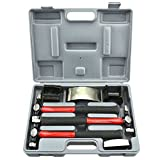 Domeiki Auto Body Set 7 pc Heavy Duty Dent Fender Repair Hammer Dolly Professional Kit