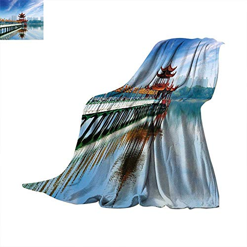 Ancient Architecture China - Betterull Ancient China Decorations Warm Microfiber All Season Blanket Kaohsiung Taiwan Ancient Pagoda Heritage Religion Architecture Summer Quilt Comforter 70