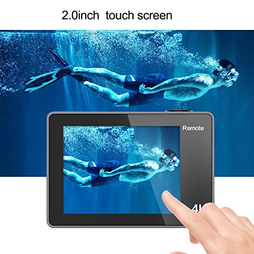 Digital Video Action Camera Live Streaming Touch Screen Underwater Cameras 4K 30fps HD WiFi Sports Cam 170 Wide Angle Remote Control Waterproof Camcorder 100ft with 2 Rechargeable 1350mAh Batteries by GeeKam (Image #4)
