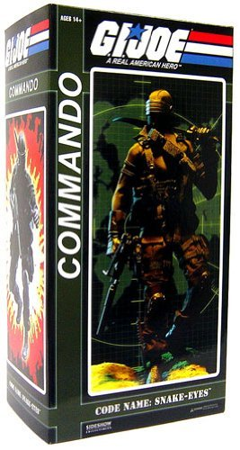 GI Joe Sideshow Collectibles 12 Inch Action Figure Commander Snake Eyes (Gi Joe The Rise Of Cobra Shipwreck)