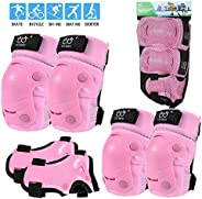 Sports Protective Gear Safety pad Safeguard (Knee Elbow Wrist) Support Pad Set Equipment for Kids Roller Bicyc