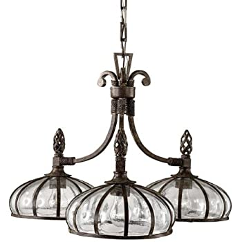 Quoizel trg5105oz five light chandelier amazon uttermost 21046 galeana 3 light iron downlight chandelier with mouth blown glass mozeypictures Gallery