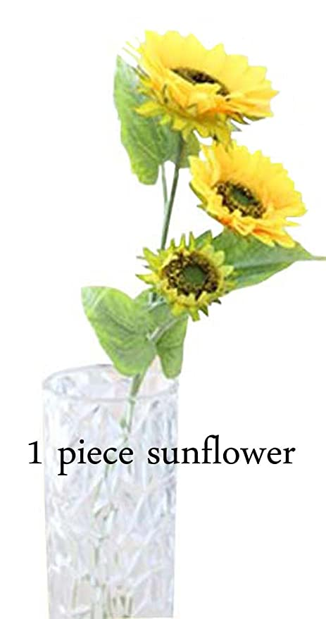 amazon com long artificial sunflowers real touch sun plant flowers