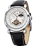KS Men's KS069 Luxury Tourbillion Moon Phase Automatic Mechanical White Dial Wrist Watch