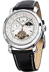 KS Luxury Tourbillion Moon Phase Automatic Mechanical White Dial Mens Wrist Watch KS069