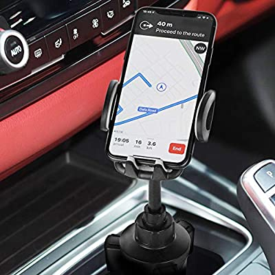 Cup Holder Phone Mount, Gobeigo Height Adjustable Metal Stand Car Phone Cradle Fits All Smartphones Compatible with iPhone 11 Pro/11 Pro Max/XR/XS/XS Max/X/8/7,Galaxy S10/S10 Plus Note 9/Note 10 Plus