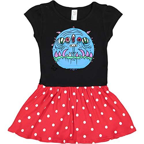 Inktastic Infant Dress 6 Months Black & Red with Polka Dots - Gus Fink Studios