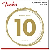 Fender Accessories 073-0070-402 80/20 Bronze Acoustic Guitar Strings, Extra Light