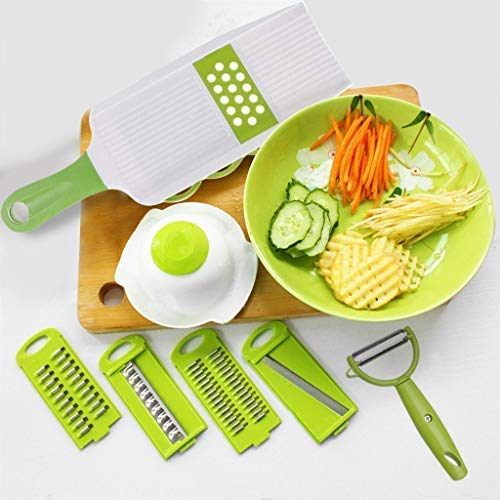 Kurtzy 5 in 1 Vegetable Grater Cutter Slicer Shredder Chopper with Peeler Kitchen Multifunction Set Graters & Slicers at amazon
