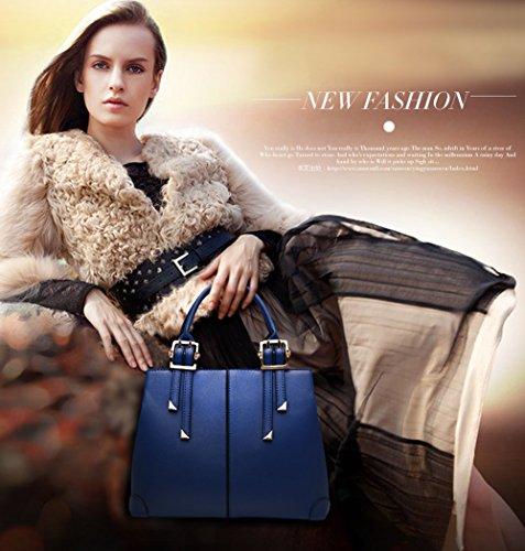 NICOLE&DORIS nuevo bolso de la manera bolso de hombro portable del monedero de la bolsa de mensajero ocasional para las señoras(Red wine) azul marino