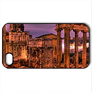 ROMAN RUINS - Case Cover for iPhone 4 and 4s (Watercolor style, Black) by icecream design