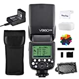 Godox V860II-S 1/8000s High Speed Sync TTL autoflash Li-ion Batteries Camera Flash Built-in Godox 2.4g Wireless X System GN60 Compatible with Sony DSLR Cameras