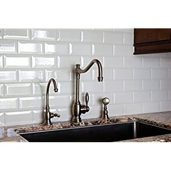 White Crackled Bevelled 3x6 Subway Tile Backsplash Kitchen Walls Countertop Bathroom