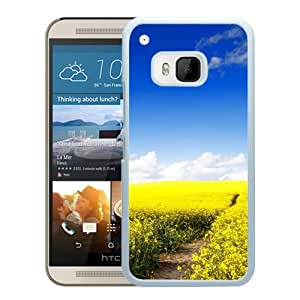 New Beautiful Custom Designed Cover Case For HTC ONE M9 With Nature Canola Flower Field (2) Phone Case