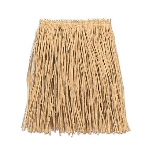 Hula Skirt Halloween (Beistle Adult Mini Hula Skirt, 36-Inch Width by 16-Inch Length)